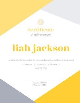 Professional Achievement - Certificate item