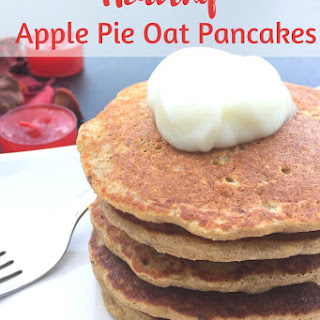 Apple Pie Oatmeal Pancakes.