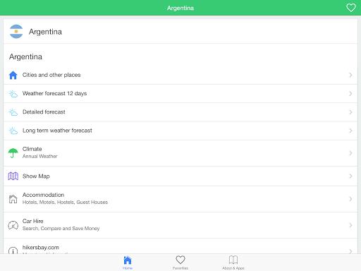 玩免費天氣APP|下載アルゼンチンの天候、ガイド app不用錢|硬是要APP