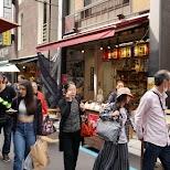 tsukiji outer fish market in Tokyo, Tokyo, Japan
