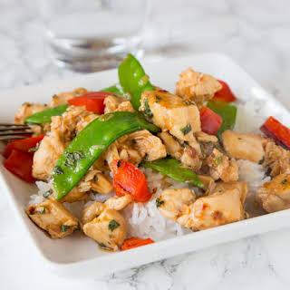 Spicy Basil Chicken.
