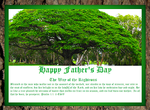 Photo: Happy Father's Day ~ The Way of the Righteous ''…He is like a tree planted by streams of water…'' Psalm 1.1-3 ESV. Tree Green Inlay with Bark Frame  The Way of the Righteous… Psalm 1:1-3 ESV  ''Blessed is the man who walks not in the counsel of the wicked, nor stands in the way of sinners, nor sits in the seat of scoffers; but his delight is in the law of the Lord, and on his law he meditates day and night.  He is like a tree planted by streams of water that yields its fruit in its season, and its leaf does not wither. In all that he does, he prospers.  Psalm 1 ESV; http://www.biblegateway.com/passage/?search=Psalm+1&version=ESV