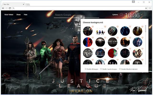Justice League Custom New Tab - freeaddon.com