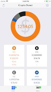 Crypto Donut - Bitcoin, Altcoins & Token Balances - náhled