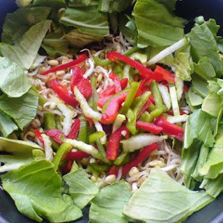 Pak Choi and Bean Sprouts Salad