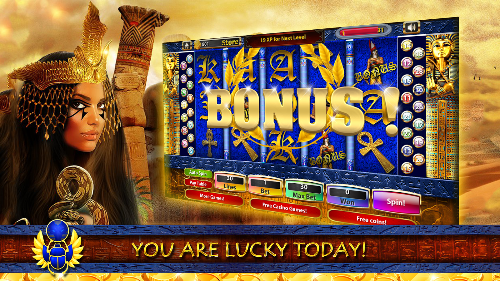 cleopatra slot machine app
