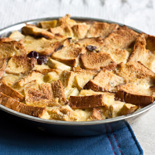 Apple and Dried Cherry Bread Pudding