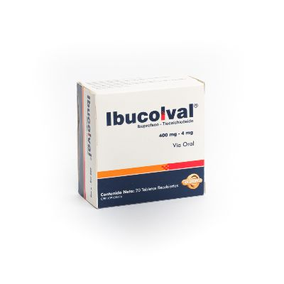 Ibuprofeno + Tiocolchicosido Ibucolval 400 Mg/4 Mg X 20 Tabletas Valmor