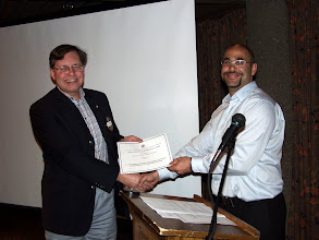 Photo: Here Mike Swain of Jp2g Engineering accepts the Region 2 award (2nd place) for the Guindon Hall Laboratory Expansion at the University of Ottawa