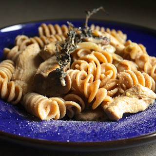 Pasta with Chicken and Mushrooms in a Creamy Dijon Mustard Sauce Recipe