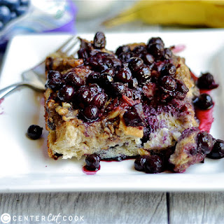 Overnight Blueberry Banana French Toast