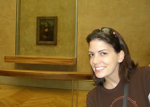 Photo: Teresa and the Mona Lisa