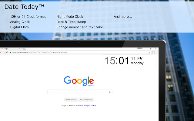 Date Today for Google Chrome