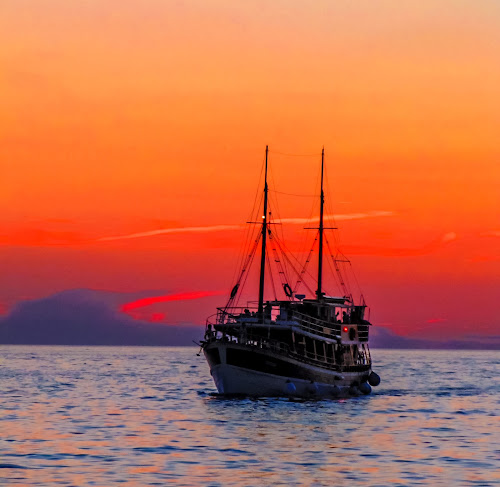 Sunset over Rovinj, Croatia by Mandy Hedley - Landscapes Sunsets & Sunrises ( peaceful, sunset, croatia, boat, rovinj,  )