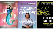'Mermaid Fillet' by Mia Arderne, 'It's About Damn Time' by Arlan Hamilton, and 'Remain Silent' by Susie Steiner.