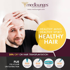 best hair transplant center by Medlounges Wellness center - Typography Words ( skin tightening treatment centre, obeisity management and treatment, health and wellness centre thiruvalla )