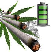 Weed Joint Battery Widget LIVE