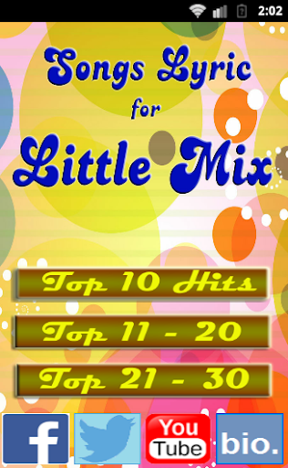 Songs for LITTLE MIX