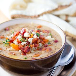 Easy Cauliflower Soup.