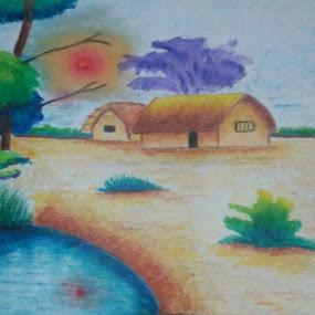 A living village by Satyabrata Paul - Drawing All Drawing
