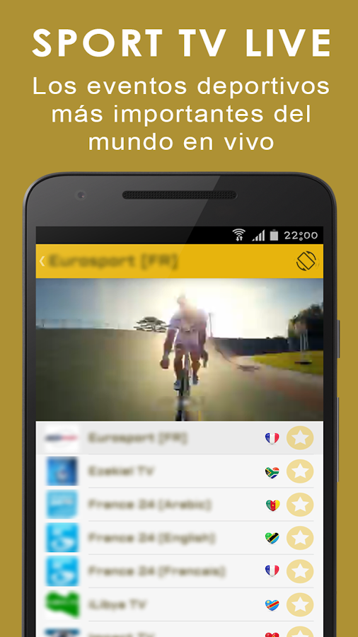 Tv en vivo y radio gratis: captura de pantalla