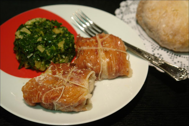 Hake with Apple and Ham Recipe