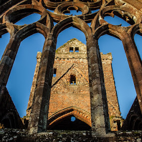 Sweetheart Abbey by Andrew Lancaster - Buildings & Architecture Places of Worship ( home, building, ancient, church, archetecture, stone, sweetheart, windows, abbey,  )
