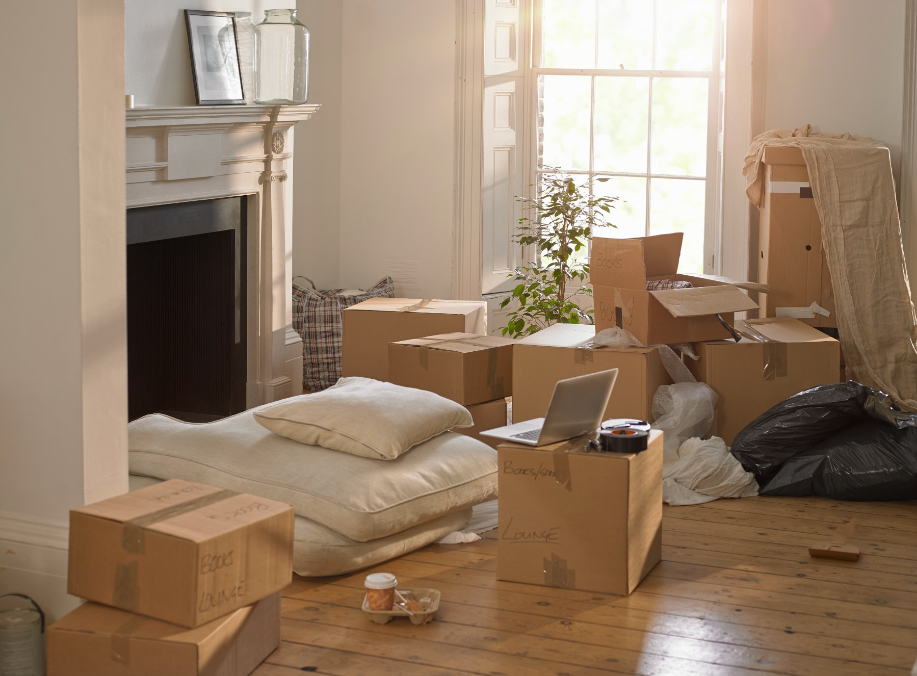 Be packed up before the moving truck arrives