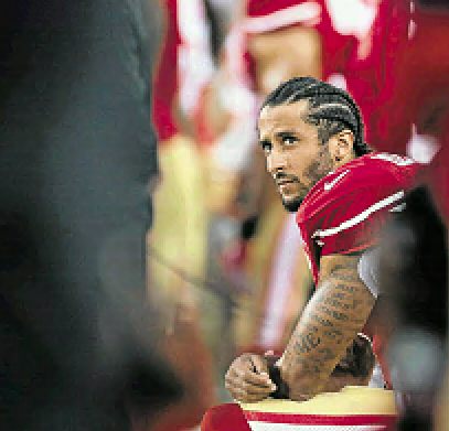 Colin Kaepernick right in the eye of the storm