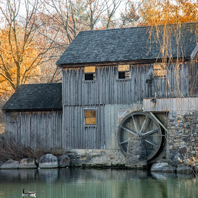 Midway Mill by Darrin Ralph - Buildings & Architecture Other Exteriors ( water, mill, old, autumn, rustic )