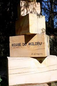 Sign for Bisse du Milieu in Nendaz