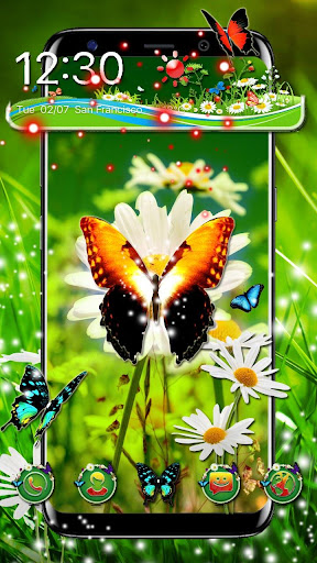 3d colorful butterfly theme ss1