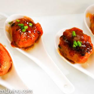 Turkey Cocktail Meatballs with Pineapple Sauce.