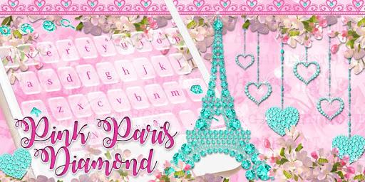 Diamond Eiffel Tower Pink Paris Keyboard  screenshots 4
