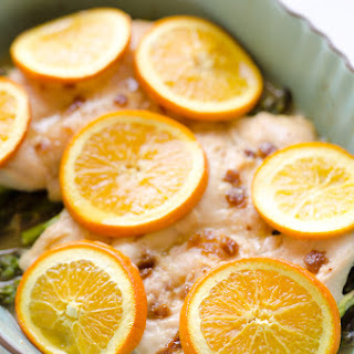 Fig & Orange Chicken Asparagus Bake