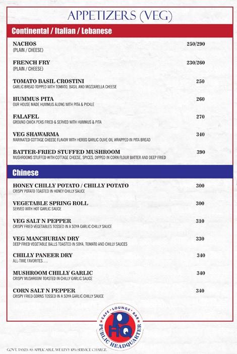 Public Headquarter menu 4