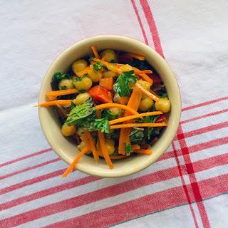Chickpea & Vegetable Salad With Mint And A Lemon-cumin Vinaigrette