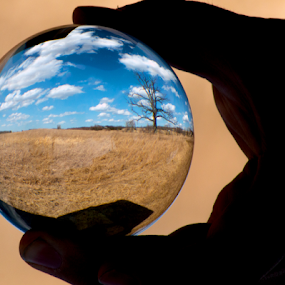 World in Hand by Robert George - Artistic Objects Glass ( abstract, clouds, glass, circle, earth,  )