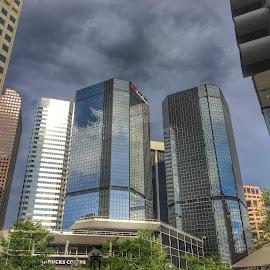 Downtown Dallas by Manuel Castro - City,  Street & Park  Skylines