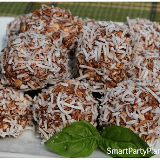 Healthy Chocolate Coconut Balls.
