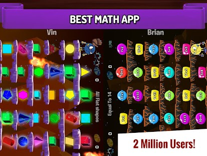 Duel: fun, fast mental math facts games for kids Screenshot