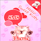 Gatos rosados Theme GO SMS Pro icon