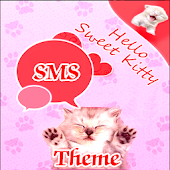 Pink Cats Theme GO SMS Pro