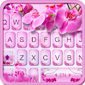 Pink Orchid Keyboard Theme APK