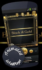 Black and gold Poweramp Skin screenshot 8