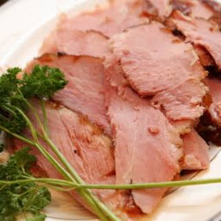 Honey Glazed Baked Ham.