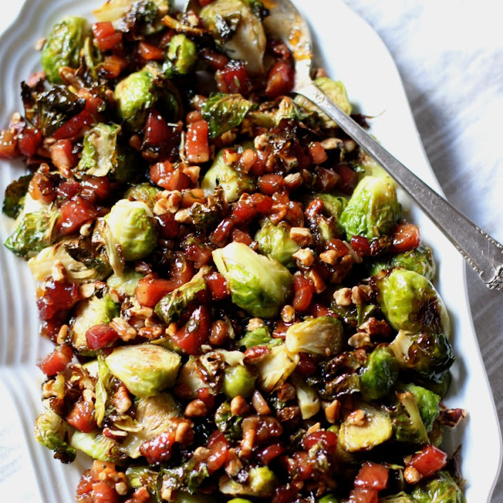Brussels Sprouts with Glazed Pancetta and Pecans - Gluten Free, Dairy Free, Soy Free Recipe