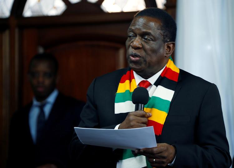 Zimbabwean President Emmerson Mnangagwa. Picture: REUTERS/PHILMON BULAWAYO
