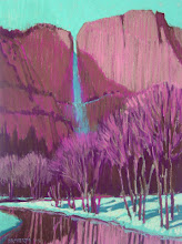 Photo: Yosemite Falls and Merced River, pastel by Nancy Roberts, copyright 2014. Private collection.