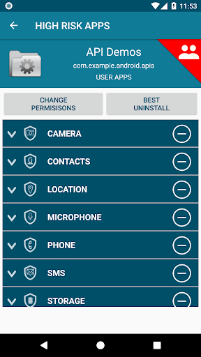 Revo App Permission Manager App Report on Mobile Action